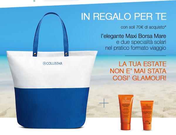 Collistar promo maxi borsa mare in regalo for Regalo a chi